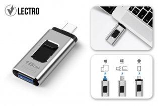 4-in-1 USB-stick voor smartphone, tablet en laptop